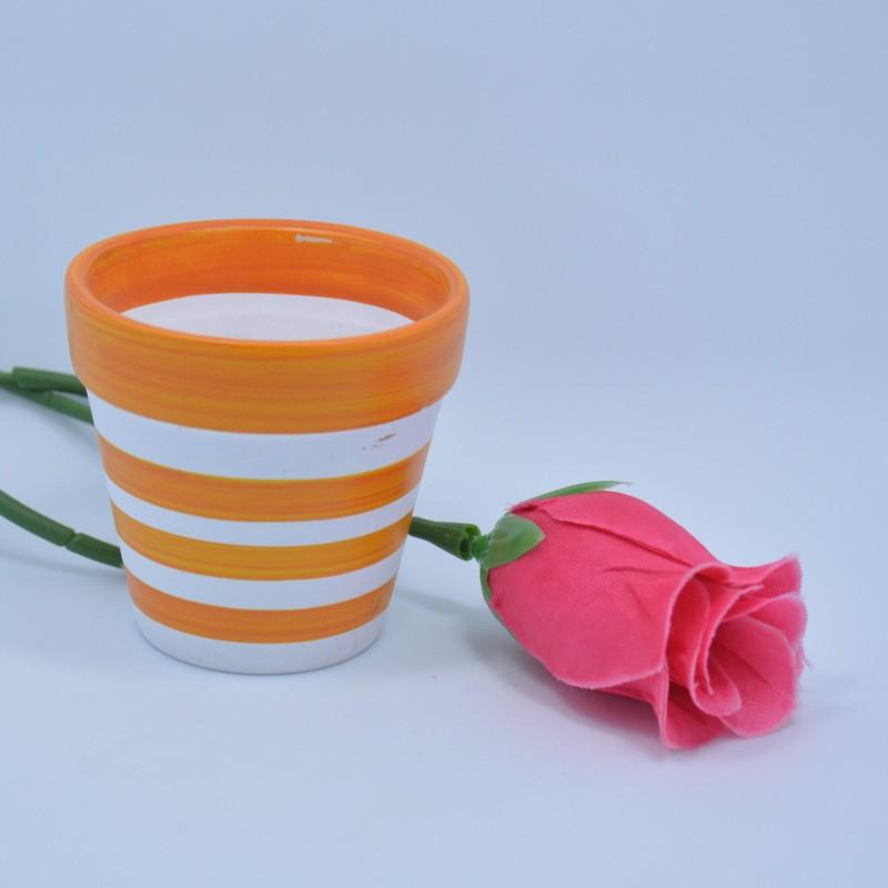 Argila Desenho Colorido Pequeno Planta Vaso De Flores De Terracota