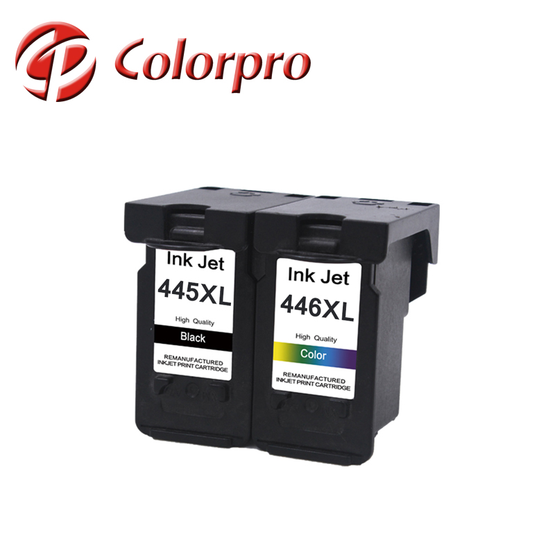 new stock 445 446 ink cartridge for MG3040 printer pg445 reset chip ink cartridge