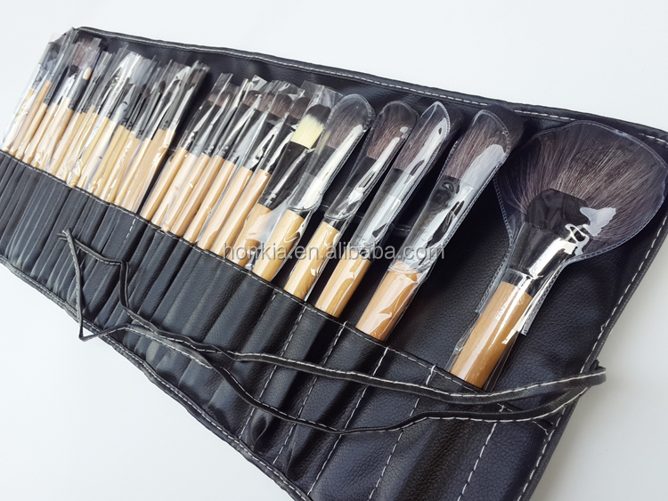 Wholesale high quality 32 pcs makeup brush set synthetic make up brush