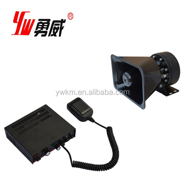 Potable 150db Fire Siren Alarm With Speaker Horn