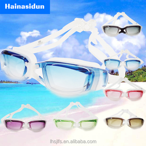 Fashion swimming goggle antifog swim goggles wide view swim goggle strap