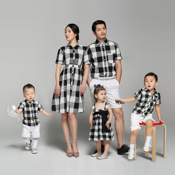 60c5a1f2 family matching clothing mother and daughter matching dresses father and  son matching clothes