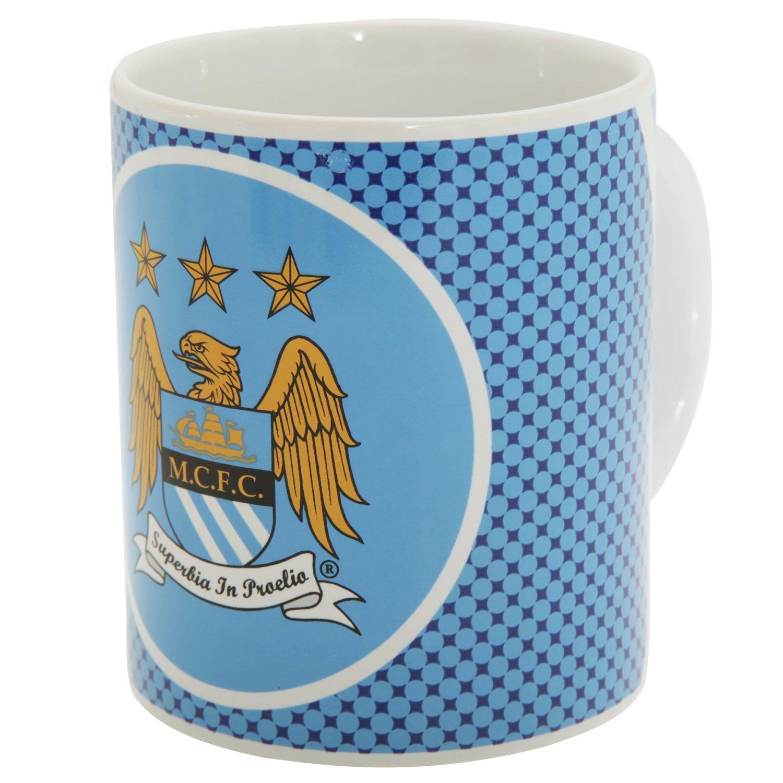 Manchester City FC Official Bullseye Ceramic Football Crest Mug