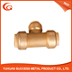 Lead Free Brass Fush fit fitting with Tee 1-Inch pipe connector