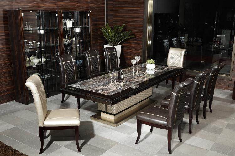 KD934E European Luxury Home Used Furniture Modern Marble Dining Table
