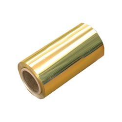 Custom printed gold candy wrapper foil in sheets