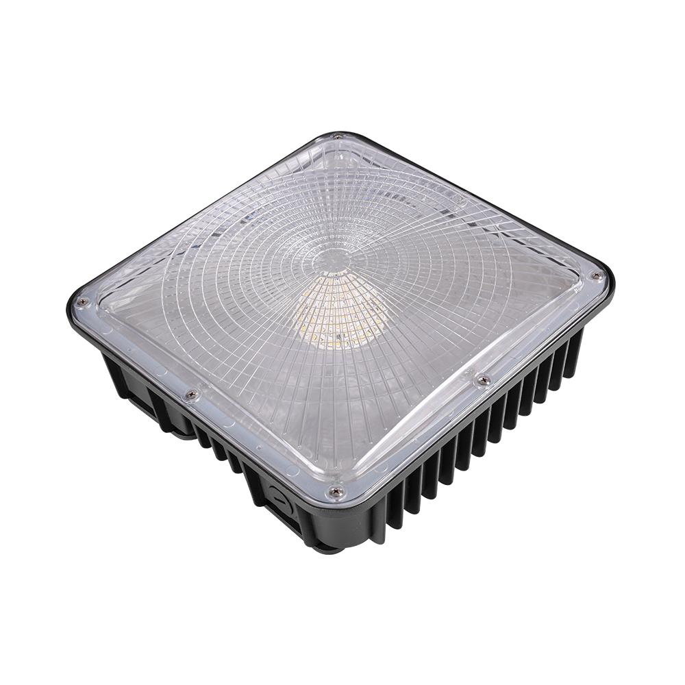 45W 70W Canopy LED Parking Lot Shoebox Ceiling Light Security Area AC 100-277V