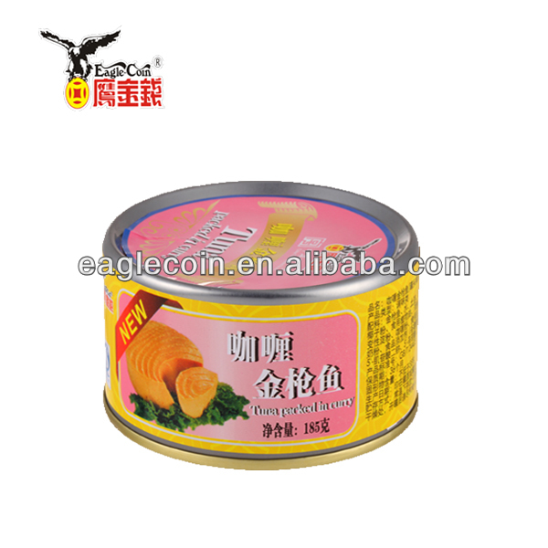 Canned tuna in vegetable oil brine 185g canned fish canned food