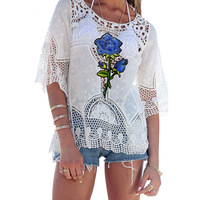 2017 latest fashion design cutting ladies top women indian style blouse