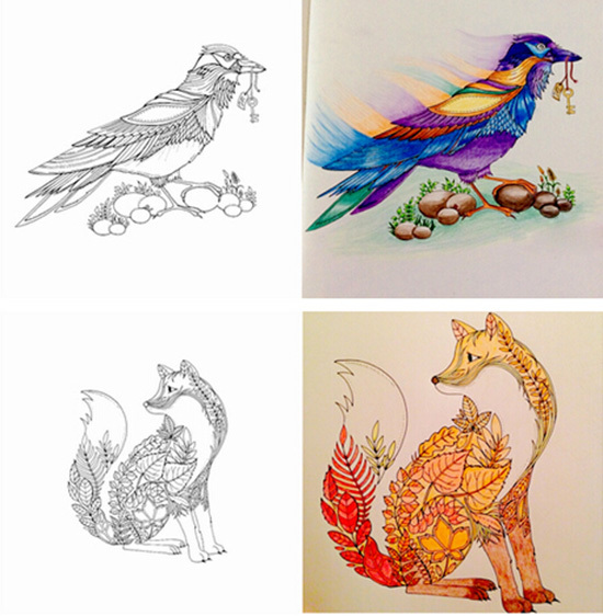 New Coloring Books For Adults : 2015 factory direct selling secret garden adult coloring book high