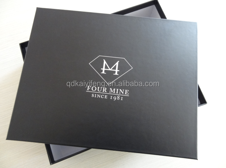 luxury retail clothing/ garment/ shoes packaging box / custom foldable collapsible box printing