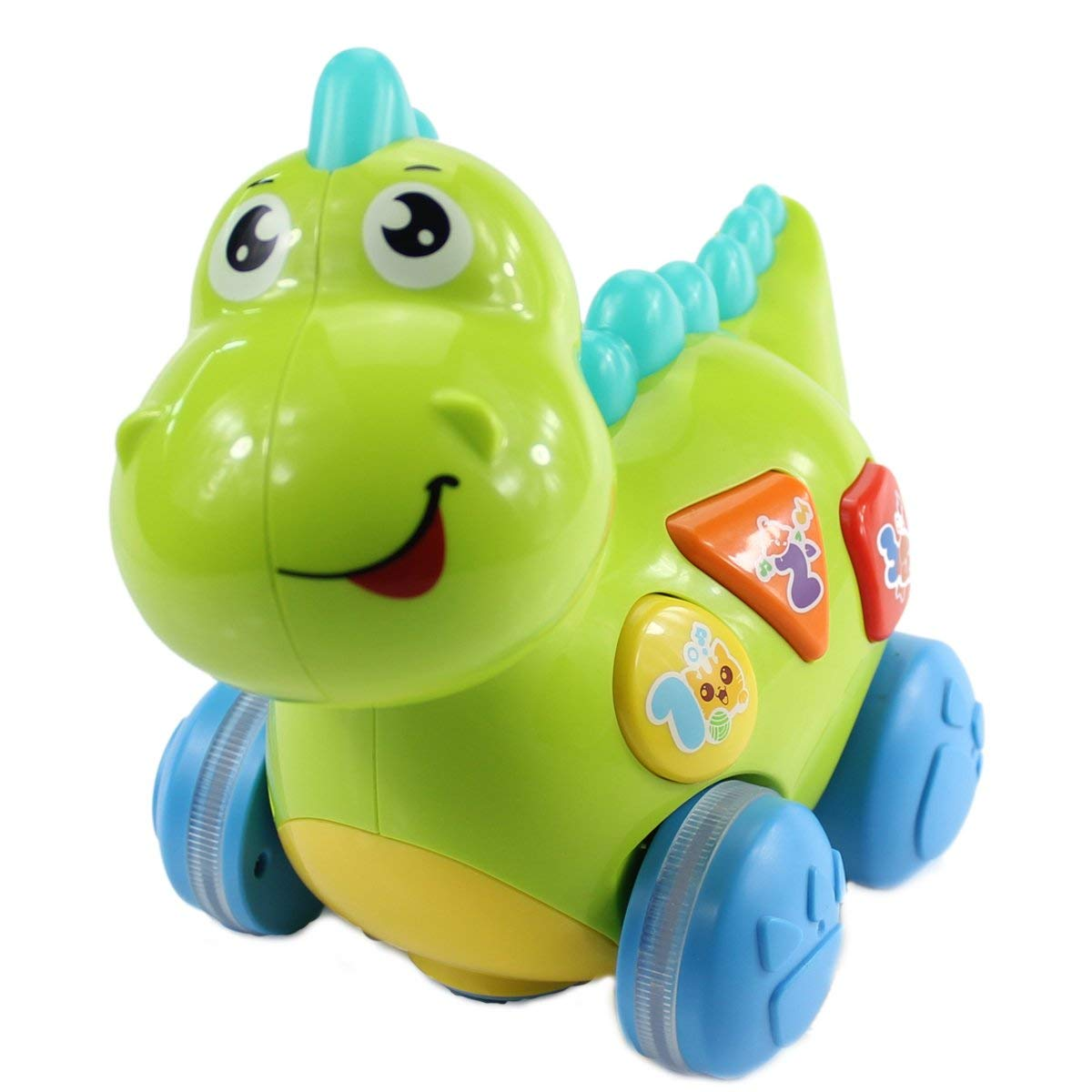 34f660582d8c Get Quotations · fisca Baby Toys Musical Walking Dinosaur for Babies    Toddlers