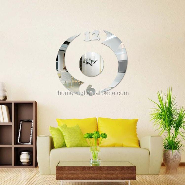 고품질의 대형 DIY 거울 벽 시계 거실 장식 도매/ 저렴한 벽 시계 ...