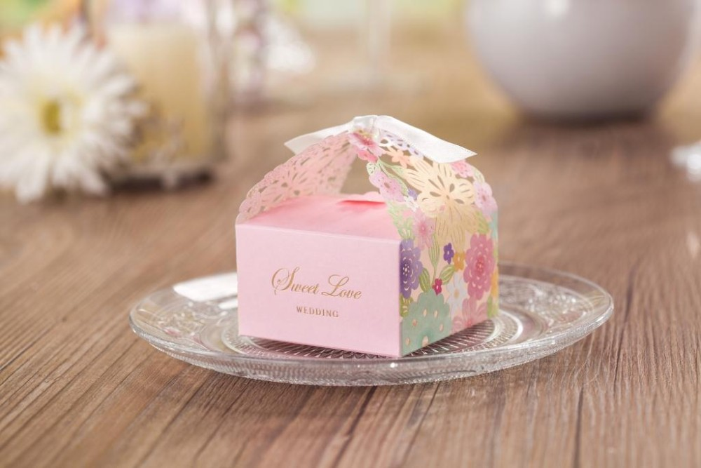 Laser Cut Favor Boxwedding Candy Box gift Box Cb5031Match