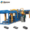 March promotion discount price full automatic concrete hollow block making machine line QT10-15 for interlocking pavers
