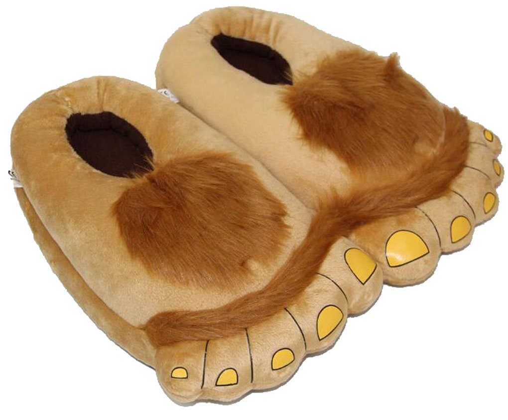 Coffeeroom Furry Monster Adventure Slippers, Comfortable Novelty Warm Winter Hobbit Feet Slippers for Adults