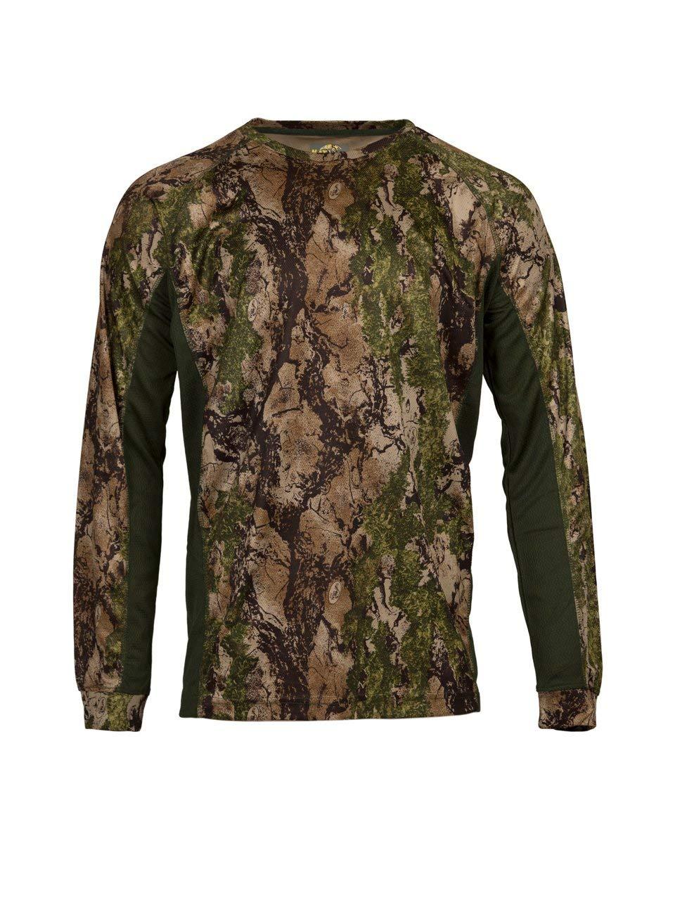 c547df8427617 Get Quotations · Natural Gear Cool Tech Performance Top SC2, Camo Long  Sleeve T-Shirt, Camo