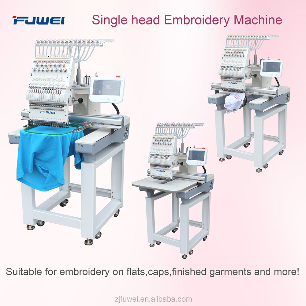 FUWEI Cap and T-shirt Embrodery machine Single Head Computerized Sewing Embroidery Machine