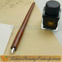 Primitive man handmade wooden pens with 5 nibs