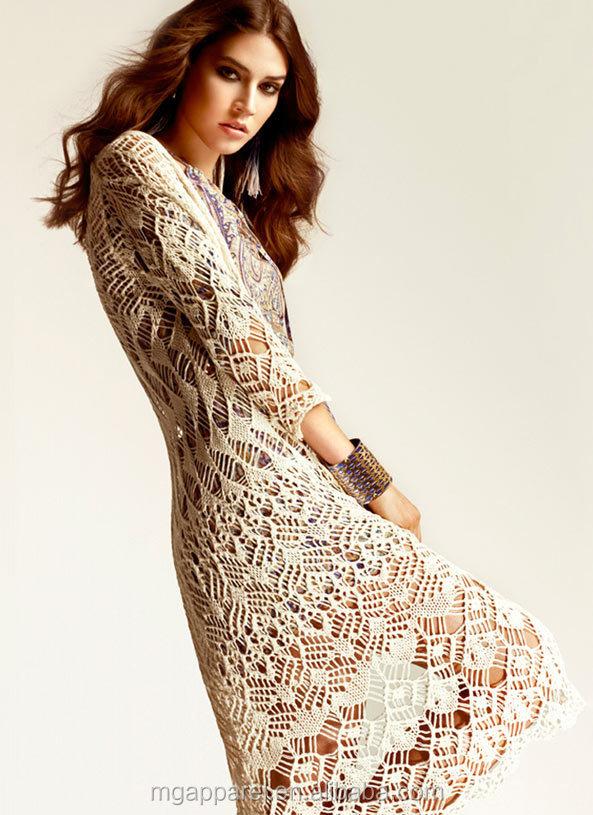 High Fashion Women Clothing Crochet Beach Dress Casual Wear Woman ...