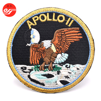 Durable Custom Cheap Iron On Embroidered Applique Embroidery Brand Name Logo Patch for Jacket