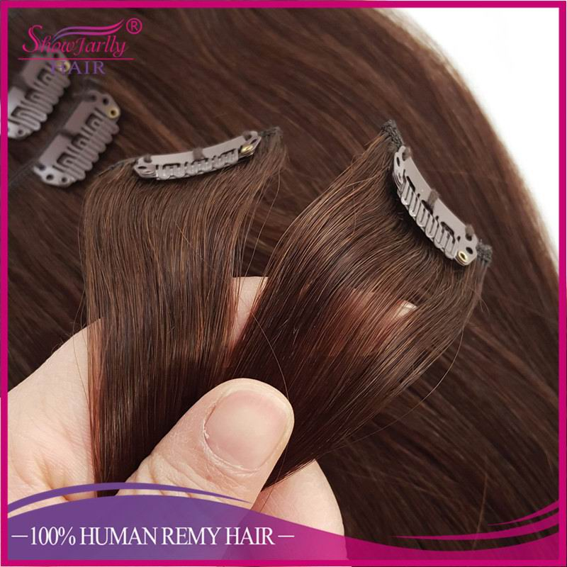China wholesale dropshipper easy clips in hair extensions virgin human remy hair clips