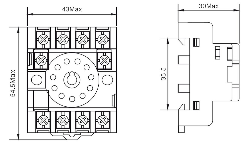 12a relay socket  pf113a