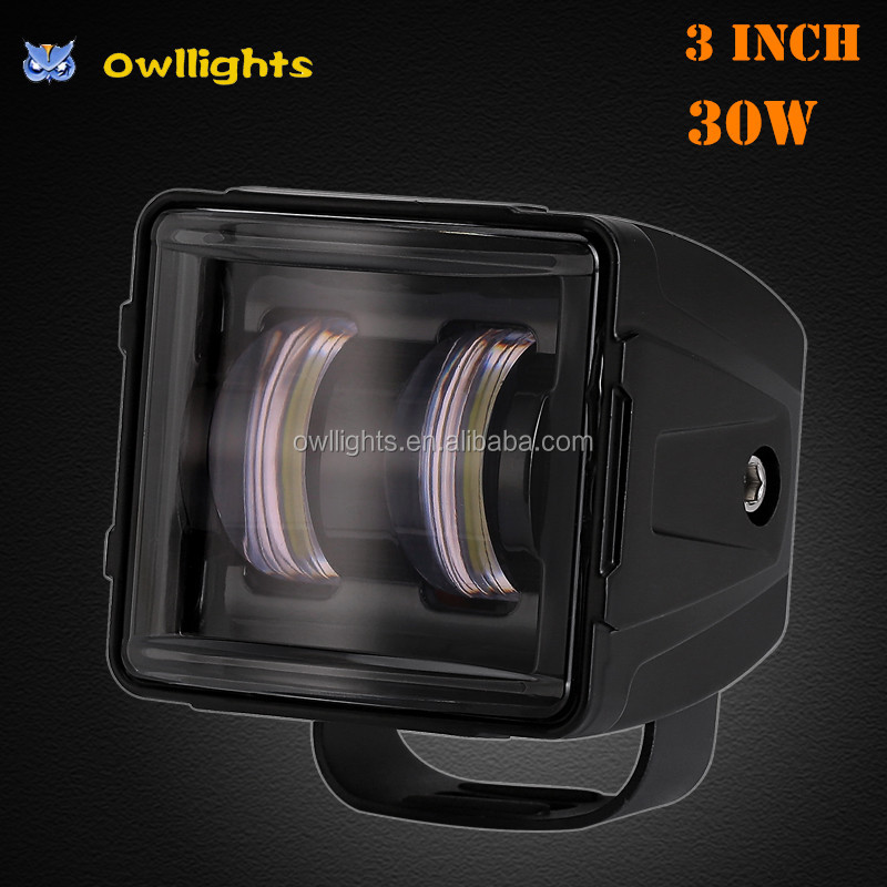 Motorcycle Accessories Owllights IP68 LED Driving Light 3inch LED Fog Light Manufacturer 30W LED Work Light