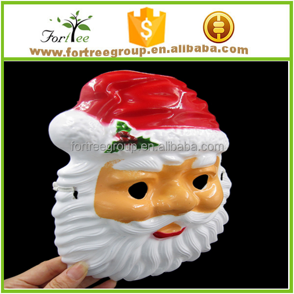 wholesale plastic Santa Claus cosplay mask for Christmas