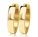 Latest Style Jewels Simple Designs Manual Polishing Silver Gold Plating Earring for Men and Women
