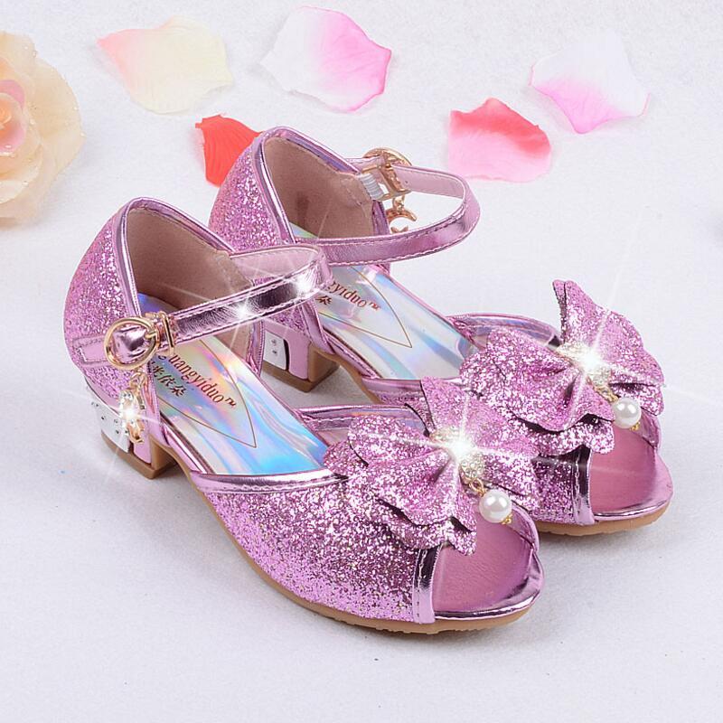 86a962570 Verão 2016 Crianças Sandálias Princesa Crianças Meninas Sapatos De  Casamento sapatos De Salto Alto Vestido Sapatos