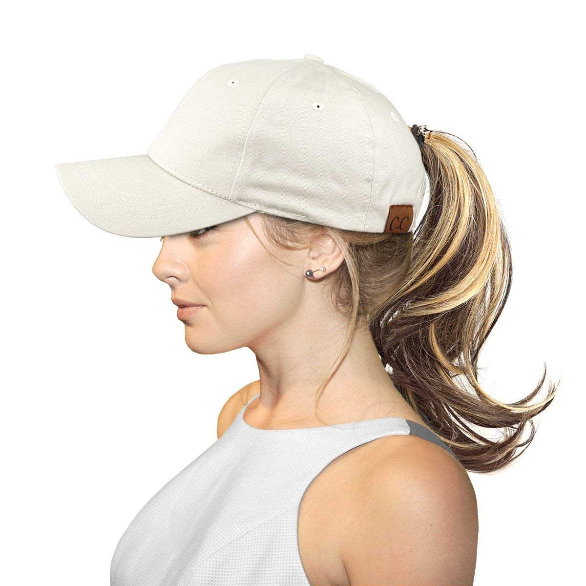 71a0ee4ba6b Get Quotations · FADA Baseball Cap Ponytail-Glitter High Ponytail Hat Messy  Buns Trucker Ponycaps Dad Hat