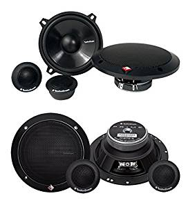 "2) New Rockford Fosgate R152-S 5.25"" 80W + 2) R165-S 6.5"" 80W Component Speakers"