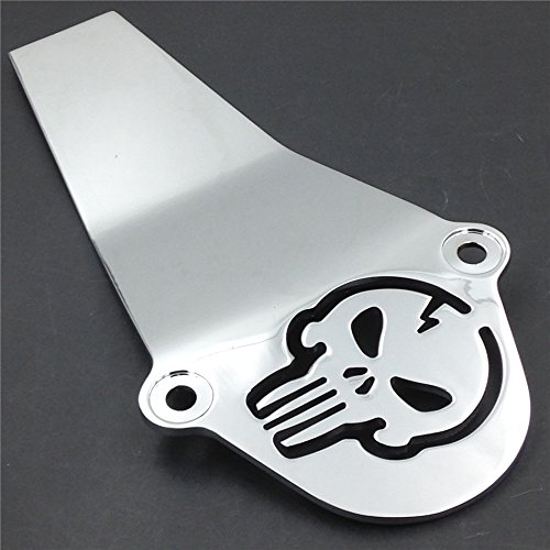Motorcycle Chrome Skull Aluminum Drive Shaft Cover For Yamaha V-Star 650 1100 Classic new