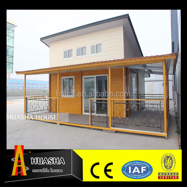 20ft affordable log style prefabricated flat pack house