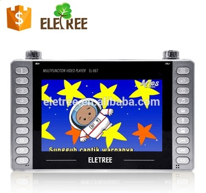 "ELETREE 7"" multifunction video player mini led flat screen car lcd monitor super mini led tv lcd tv with radio"