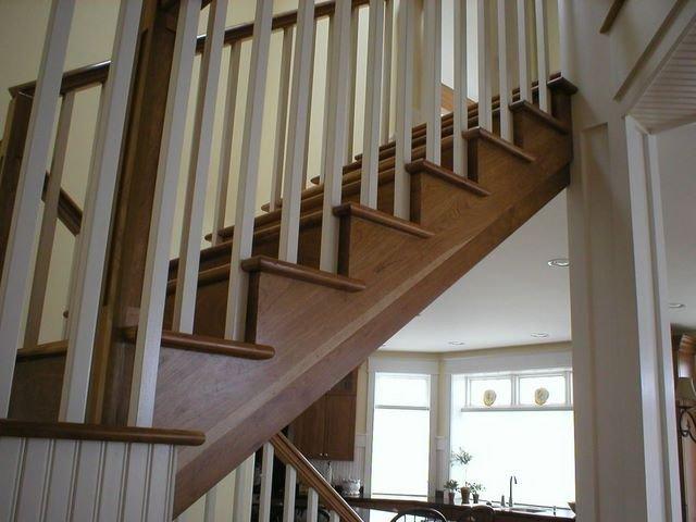escaliers en bois pi ces peint place balustres avec. Black Bedroom Furniture Sets. Home Design Ideas