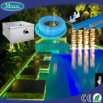 Fiber Stars Pool Lights Perimeter Decorative With Led Light Source Cable Optic Channel