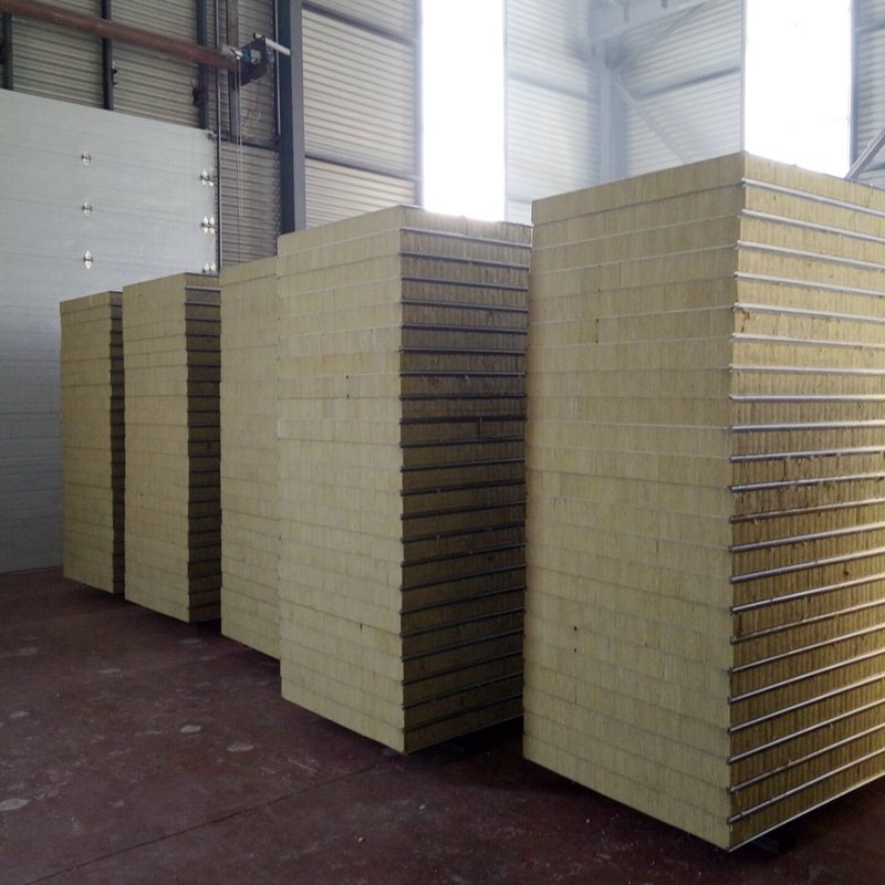 new type used most cost-effective rock wool sandwich panel for wall and roof