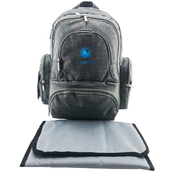 e65fe2172 Factory hot sale baby diaper bag backpack with changing pad for dad and mum