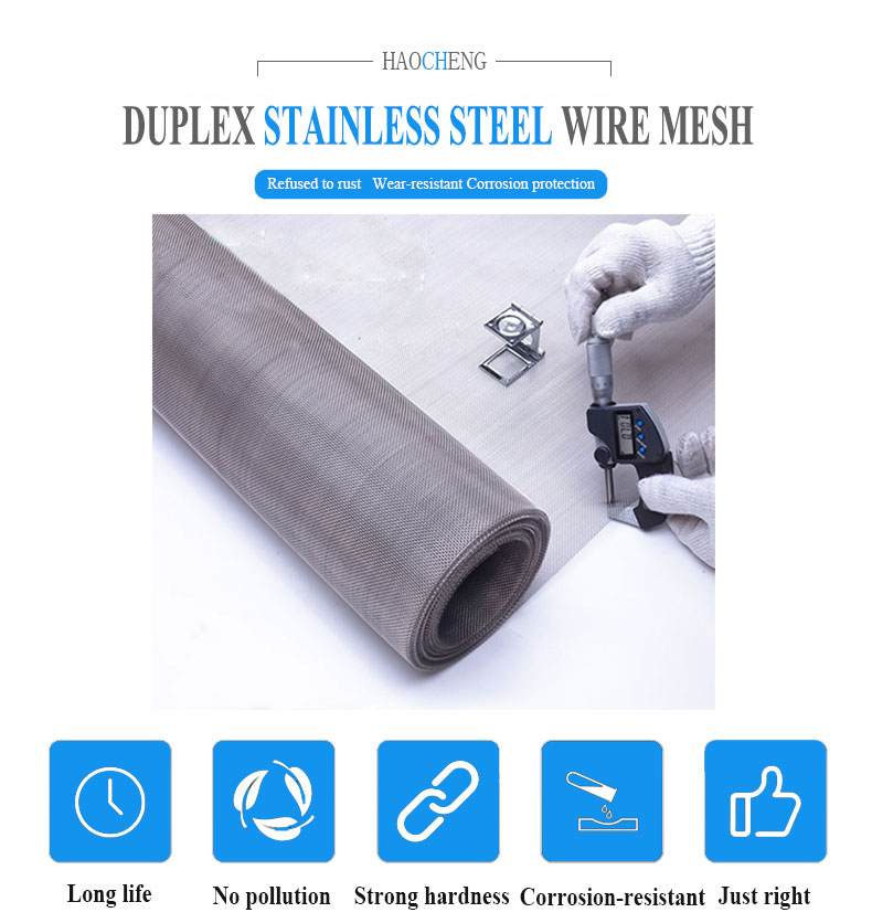 Duplex 2205 stainless steel woven wire mesh screen