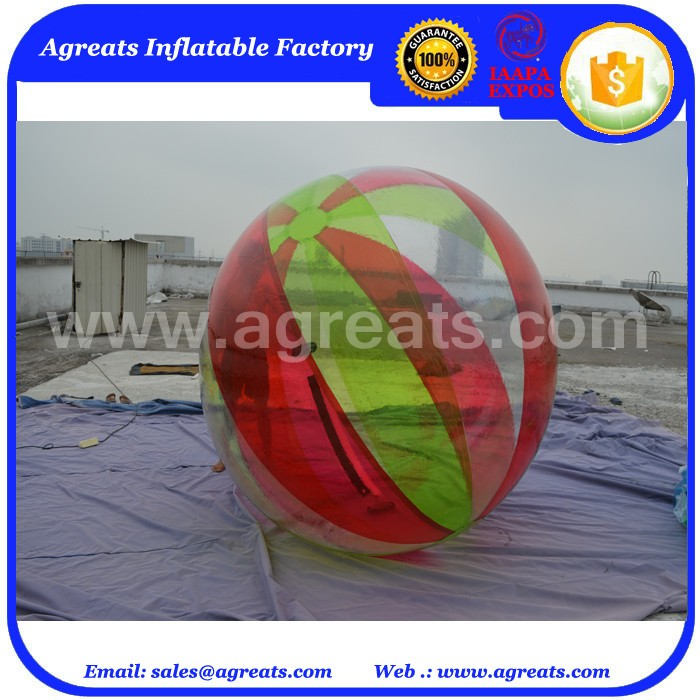 Hot sale floating water pool balls,human water bubble ball for amusement park GW7541