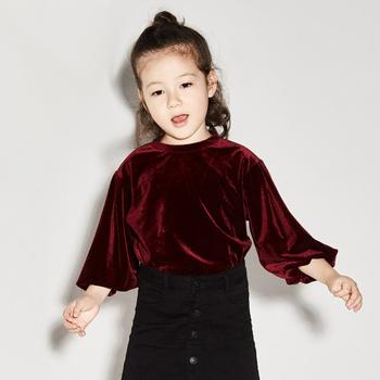Velvet Shirt Designs | 2017 Newest Baby Frock Designs Girls Velvet Tops Buy Baby Frock