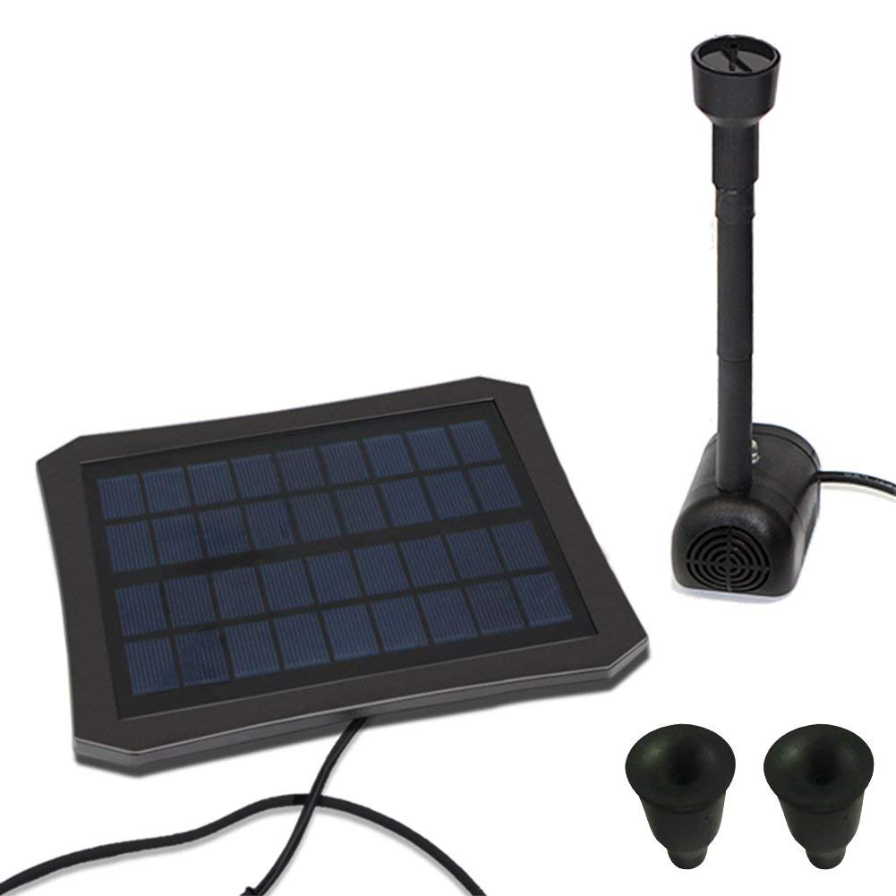 Sundlight Solar Water Fountain, RC-608 Colorful LED Powered Solar Water Pump with 2 Nozzles Water Fountain Panel Kit for Outdoor Garden,Pond,Pool,Patio