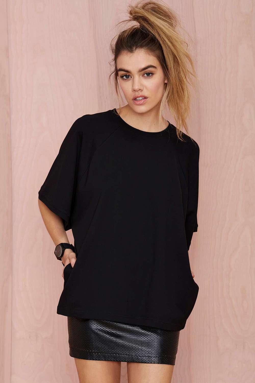 Design your own t shirt dress - Black Oversized Design Your Own T Shirt For Women