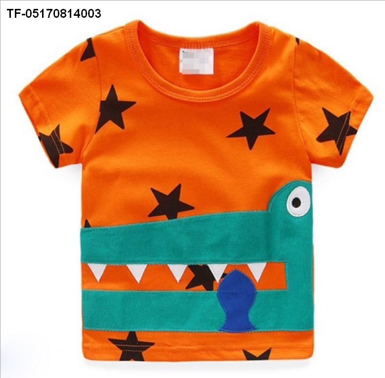Kids Boys Toddlers Cartoon Cool Summer Party Birthday Tops T Shirts