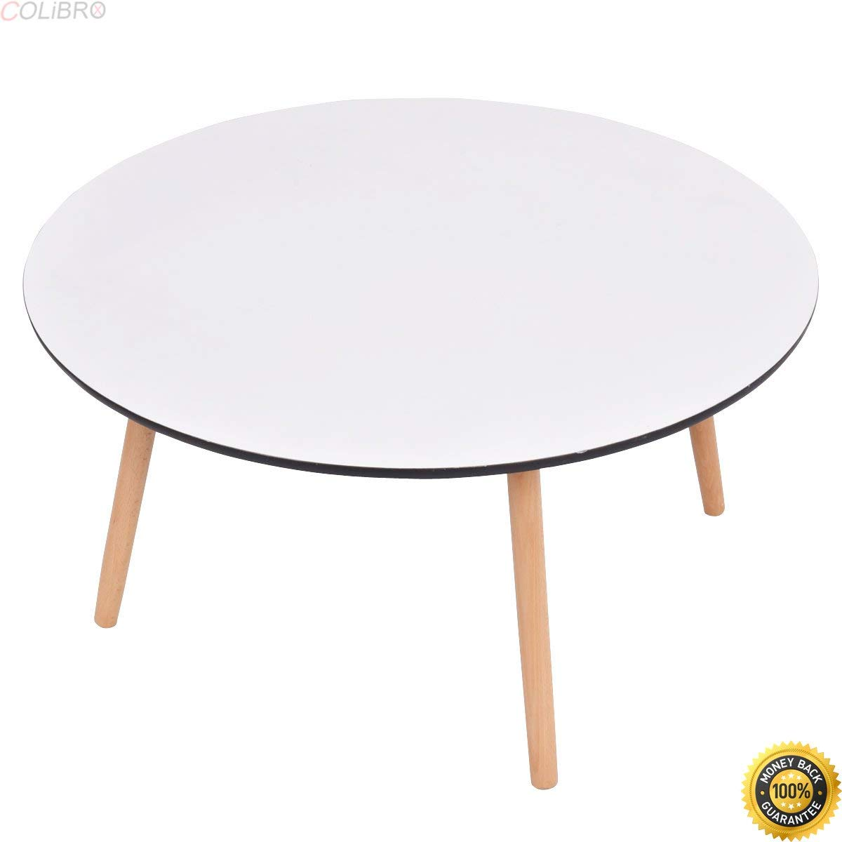 COLIBROX-Modern Round Coffee Tea Table Living Room Furniture Home Decor White New,furniture tables,dining table,round kitchen tables,new and modern dining table