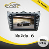 Double din screen in dash for mazda 6 touch screen car dvd player with car gps navigation free map