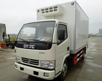 DONGFENG 4 tons frozen food refrigerator truck/ice cream transportation truck body/cooling box truck for hot sale