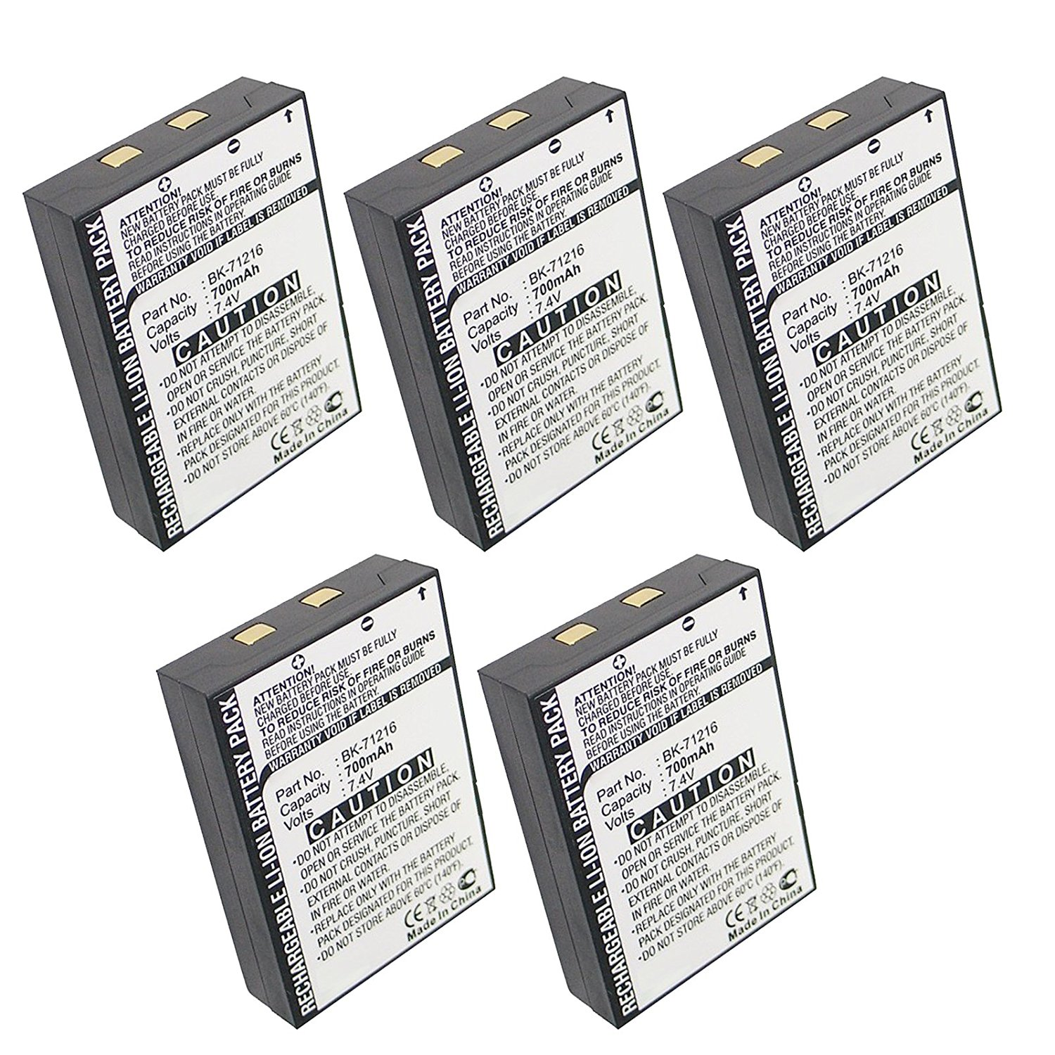 5pcs Exell FRS Two-Way Radio Battery Fits Cobra CXR 700, CXR 750, CXR 800, CXR 850, LI3900, LI3950, LI4900, LI5600, LI6000, LI6050, LI6500, LI6700, microTALK CXR700 25-Mile Radio, microTALK CXR800 27-Mile Radio , microTALK LI3900-2 DX 14-Mile Radio, microTALK LI4900-2 WX 18-Mile Radio , microTALK